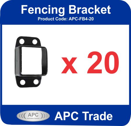 Black Powder Coated Steel Fencing Brackets