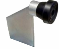 Weldable Metal gate stop 115mm High - Galvanized