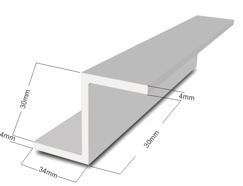 1m Aluminium Z Section for Sliding Gates
