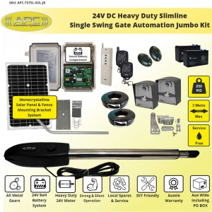 Single Swing Solar Electric Gate Opener