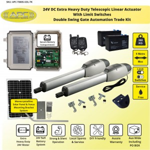Extra Heavy Duty Telescopic Linear Actuator Kit with Robust Cast Alloy Casing and Magnetic Limits Automatic Gate Opener System