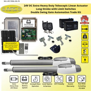Extra Heavy Duty Long Stroke, All Metal Gears, Telescopic Linear Actuator Kit with Magnetic Limits