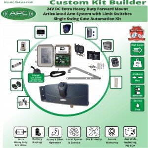 Build Your Own Kit with APC-790 Forward Mount Extra Heavy Duty Articulated System With Adjustable Limit Switches, Single Swing Gate Opener