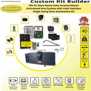 Build Your Own Kit with APC-790 Forward Mount Extra Heavy Duty Articulated System With Adjustable Limit Switches, Solar Gate Opener