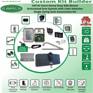 Build Your Own Kit with APC-790 Side Mount Extra Heavy Duty Articulated System With Adjustable Limit Switches, Single Swing Gate Opener