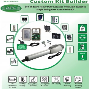 Build Your Own Kit with T700S Heavy Duty Linear Actuator With Adjustable Limit Switches, Single Swing Gate Opener