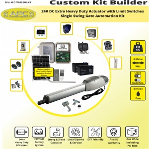 Build Your Own Kit with T700S Heavy Duty Linear Actuator With Adjustable Limit Switches, Solar Powered Gate Opener