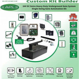 Build Your Own Kit with APC-UG1400C  Extra Heavy Duty UNDERGROUND System With Adjustable Limit Switches, Single Swing Gate Opener