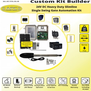 Build Your Own Kit with T575L Linear Actuator, Single Swing Solar Powered Gate Opener