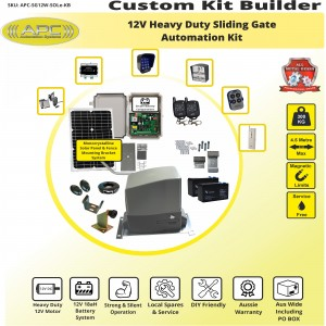 Build Your Own Kit with APC-SG12W Heavy Duty 300KG System  with battery backup