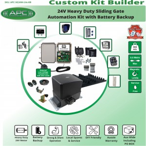 Build Your Own Kit with APC-SG24W Heavy Duty 500KG System with battery backup