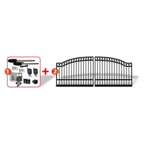 3.5m Arched Gates (2x 1.75m) + Linear Actuator Automation Package