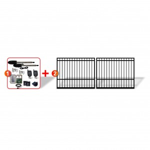 Square Top Gates (2x 1.5m) with easy to install Linear Actuator Automation System
