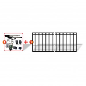 Ring Top Gates (2x 1.5m) with easy to install Linear Actuator Automation System