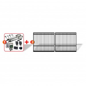 Ring Top Gates (2x 2m) + Extra Heavy Duty Linear Actuator Automation Kit