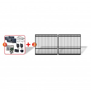 Ring Top Gates (2x 2.5m) + Extra Heavy Duty Articulated Automation Kit
