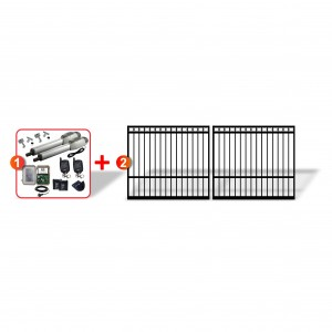 Ring Top Gates (2x 2.5m) + Extra Heavy Duty Linear Actuator Automation Kit