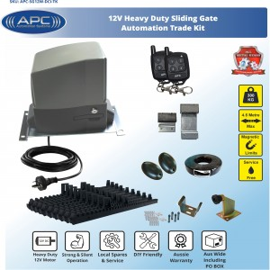 AC to 12V DC Heavy Duty FLOODPROOF Sliding Gate Kit with Magnetic Limit Switches
