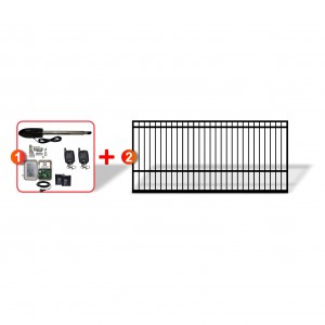 2.5m Square Top Gate with easy to install Linear Actuator Automation System
