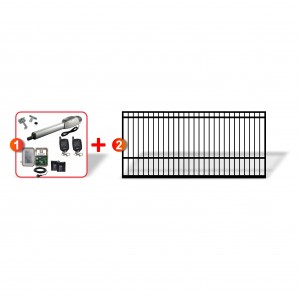 3m Square Top Gate with easy to install Heavy Duty Linear Actuator Automation