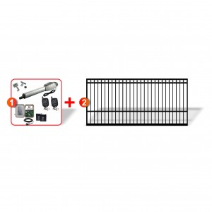 4m Ring Top Gate with easy to install Heavy Duty Linear Actuator Automation Combo