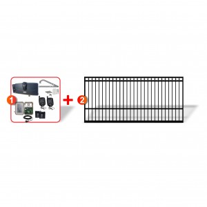 4.5m Ring Top Gate + Extra Heavy Duty Articulated Gate Automation Combo