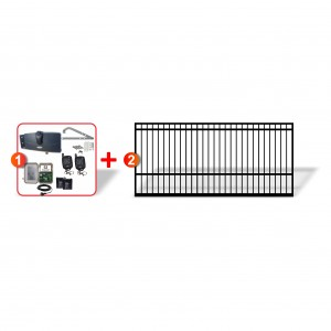 4m Square Top Gate + Extra Heavy Duty Articulated Combo