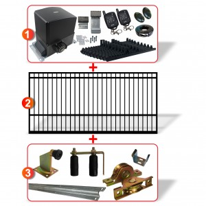 5m Square Top Gate including Hardware  + Heavy Duty 500kg Sliding gate system