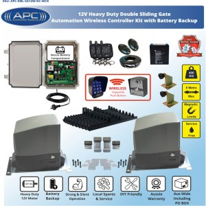WIRELESS CONTROLLER KIT AC to 12V DC Double Flood Proof Sliding System, Metal Internal Gears and Magnetic Limit Switches