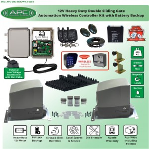 WIRELESS CONTROLLER KIT Double Flood Proof Sliding System - Metal Internal Gears and Magnetic Limit Switches