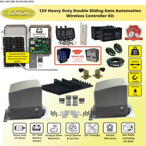 WIRELESS CONTROLLER KIT Double Flood Proof Sliding System, Metal Internal Gears and Magnetic Limit Switches