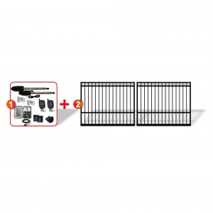 Cross Top Gates (2x 1.5m) with easy to install Linear Actuator Automation System