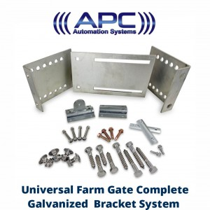 Universal Farm Gate System Complete with Gate & Post Brackets