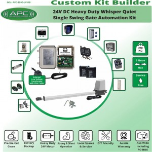 Build Your Own Kit with T550 Whisper Quiet Aluminum Linear Actuator Single Swing Gate Opener