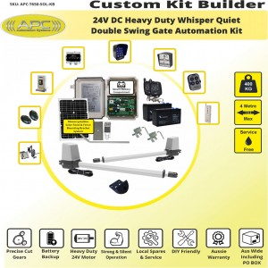 Build Your Own Kit with T650 Whisper Quiet Aluminum Linear Actuators Solar Powered Gate Automation System