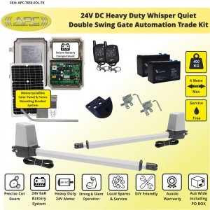 Whisper Quiet Aluminum Telescopic Linear Actuator Kit Gate Automation Solar Powered System