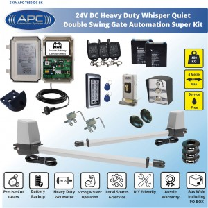 Heavy Duty Whisper Quiet Telescopic Linear Actuator Kit Gate Automation System