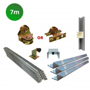 7m Complete Cladded Sliding Gate Hardware Kit with Z Channel