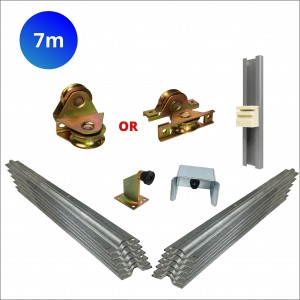 7m Recess Mount Wheels Cladded Sliding Gate Hardware Kit