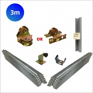 3m Cladded Sliding Gate Hardware Kit