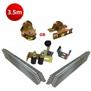 3.5m Complete Standard Sliding Gate Hardware Kit