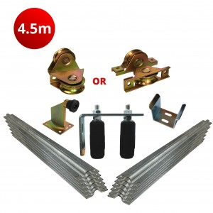 4.5m Complete Standard Sliding Gate Hardware Kit