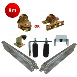 8m Complete Standard Sliding Gate Hardware Kit