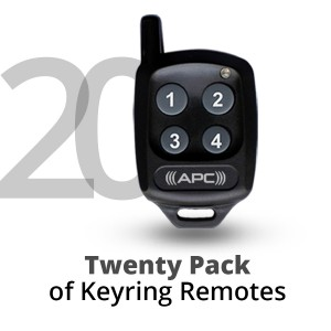 20 Pack of APC Keyring Remotes