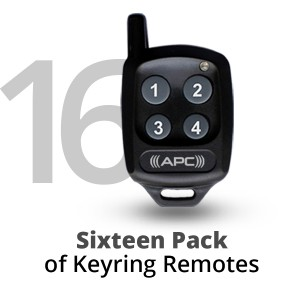 16 Pack of APC Keyring Remotes