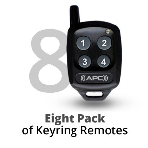 8 Pack of APC Keyring Remotes