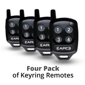 4 Pack of APC Keyring Remotes
