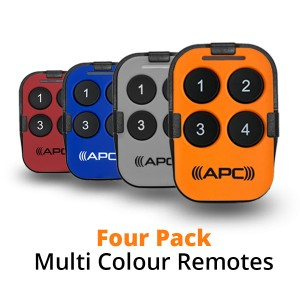 Four Pack Multi-Colour Sun Visor Remotes
