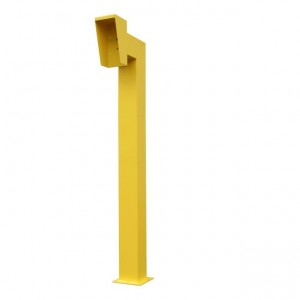 1150mm High Yellow Gooseneck Pedestal with Bolt Down Base