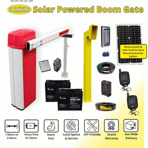 Heavy Duty Standalone Solar  Boom Gates & Barrier Gate Operator Combo Package (upto 6m Arm Length)